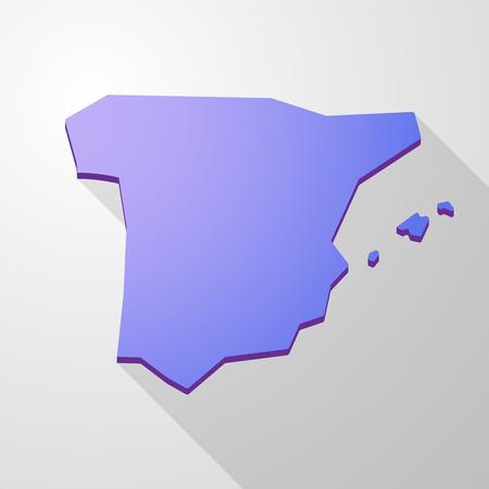 spain map: Illustrazione di una Spagna map icon viola