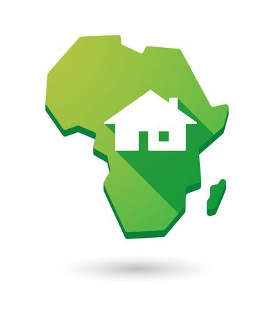 investment real state: Aislados mapa continente icono �frica con una casa