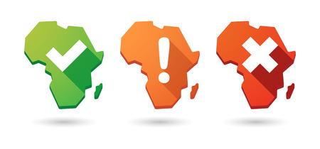 land mark: Isolated Africa continent map survey icon set