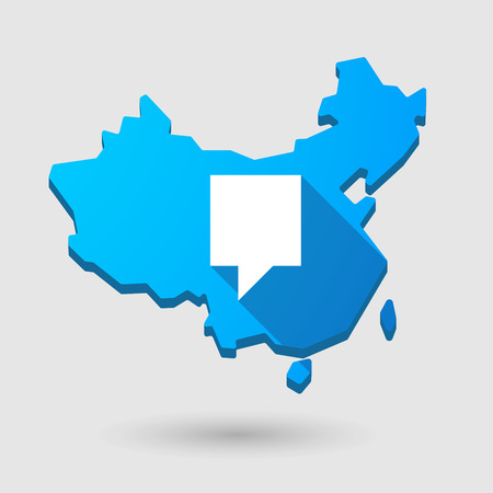tip style design: Illustration of a China map icon with a tooltip