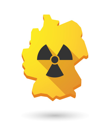 radioactivity: Illustration of a Germany map icon with a radioactivity sign Illustration