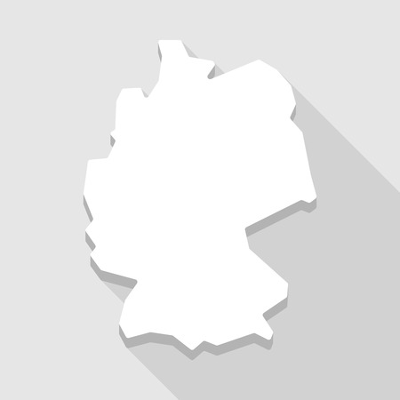 Illustration of a long shadow Germany map Vector