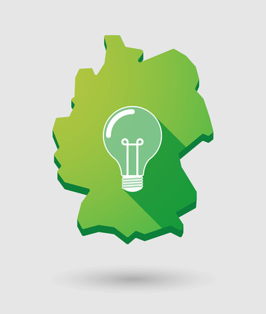 Illustration of a Germany map icon with a light bulb Vector