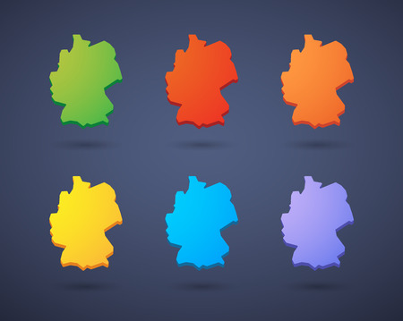 Illustration of a Germany map icon set Vector