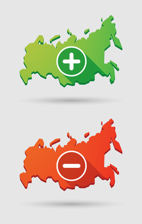 addition: Illustration of an isolated Russia map icon set Illustration
