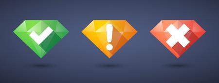 feedback form: Illustration of a survey  diamond icon set