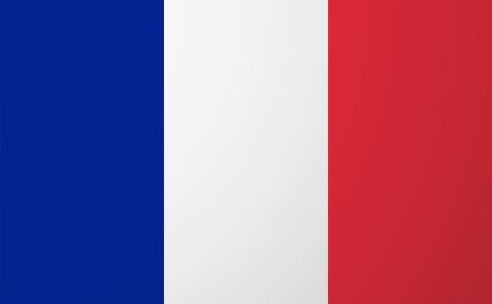 Illustratie van een geïsoleerde vector vlag van Frankrijk Stock Illustratie