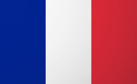 Illustration of an isolated  vector France flag