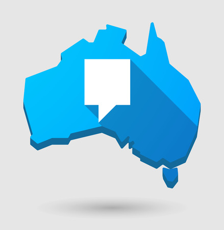 tip style design: Illustration of an Australia map icon with a tooltip Illustration