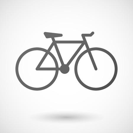 bicicleta: Icono de la bicicleta con sombra sobre fondo blanco Vectores