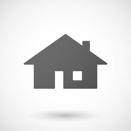 investment real state: icono de la casa con la sombra sobre fondo blanco Vectores