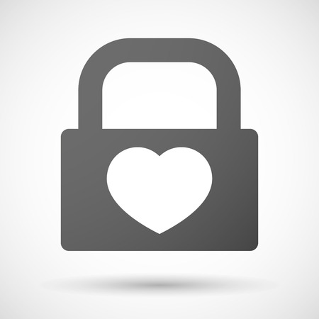 seduction: Illustration of a lock icon with a heart