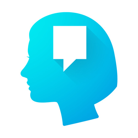 tooltip: Illustration of a woman head icon with a tooltip Illustration