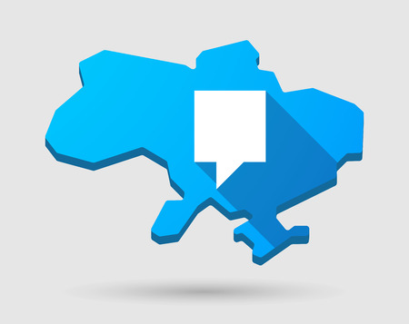 tip style design: Illustration of a blue Ukraine map icon with a tooltip
