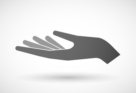 giving: Illustration of an isolated hand giving