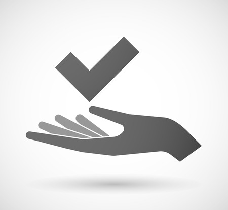 Illustration of a hand giving a check mark Vector