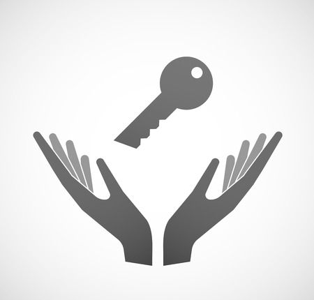 sustain: Illustration of two hands offering a key Illustration
