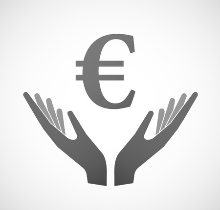 sustain: Illustration of two hands offering a currency sign