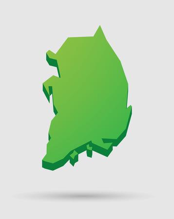 韓国地図アイコンのイラスト  イラスト・ベクター素材