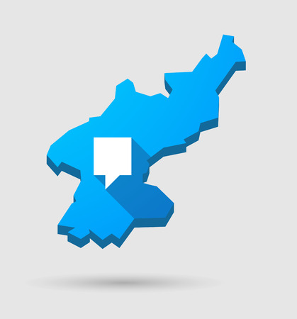 tooltip: Illustration of a blue North Korea map with a tooltip