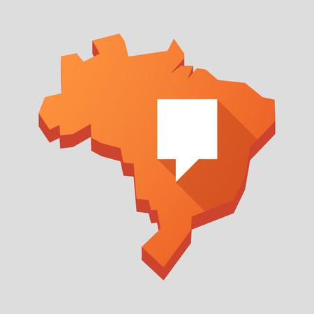 tooltip: Illustration of an orange  Brazil map with a tooltip Illustration