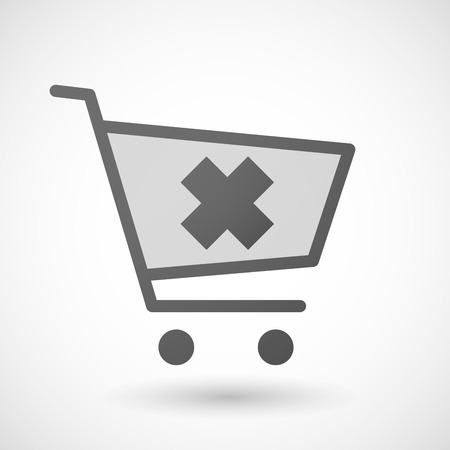 irritating: Illustration of a shopping cart icon with an irritating substance sign