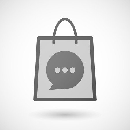shopping bag icon: Illustration of a shopping bag icon with a comic balloon Illustration