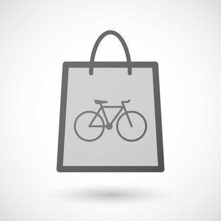 shopping bag icon: Illustration von einer Einkaufstasche Symbol mit dem Fahrrad