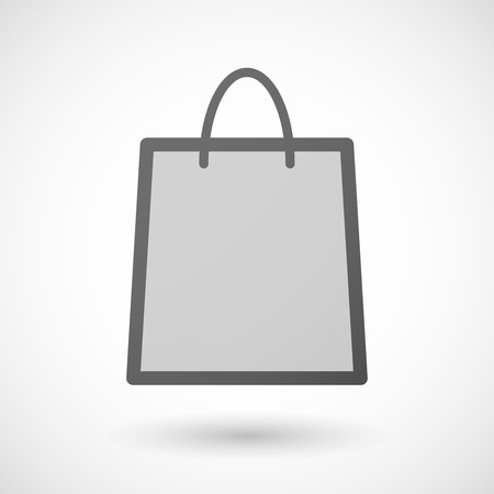 shopping bag icon: Illustration eines isolierten Einkaufstasche Symbol