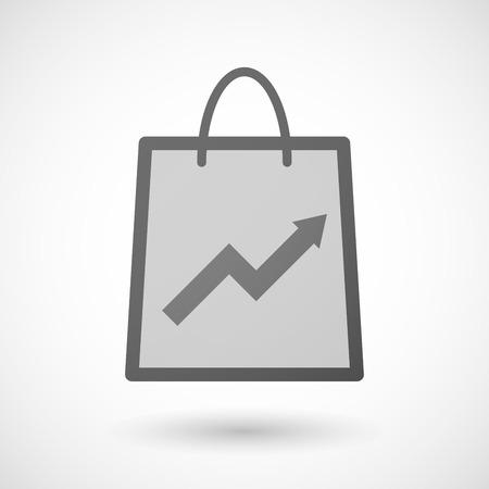 shopping bag icon: Illustration von einer Einkaufstasche Symbol mit einem Diagramm Illustration