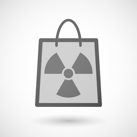 radio activity: Illustration of a shopping bag icon with a radio activity sign