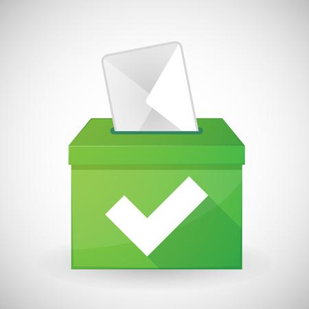 plebiscite: Illustration of a green ballot box with a check mark