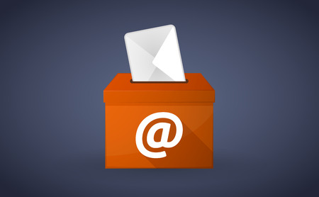 Illustration of a Orange ballot box with an