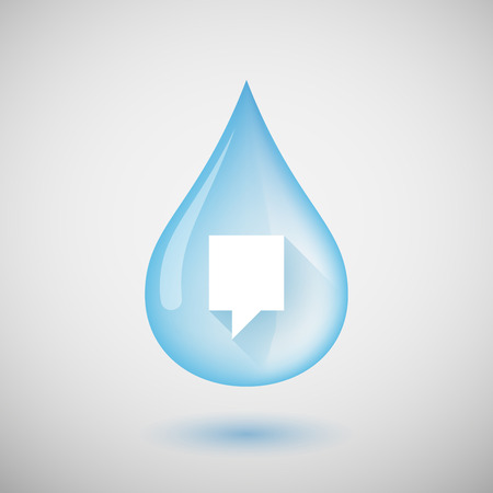 tooltip: Illustration of a water drop with a tooltip