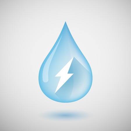 Illustration of a water drop with a lightning Illustration