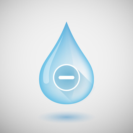 subtraction: Illustration of a water drop with a subtraction sign