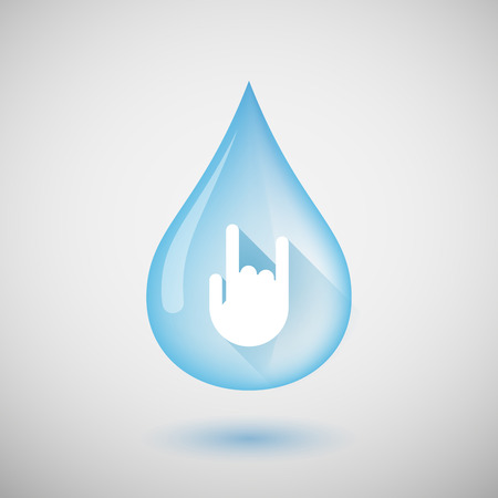 rock hand: Illustration of a water drop with a rock hand Illustration