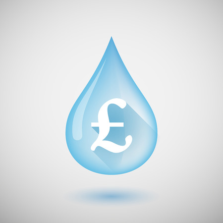 Illustration of a water drop with a pound sign Vector