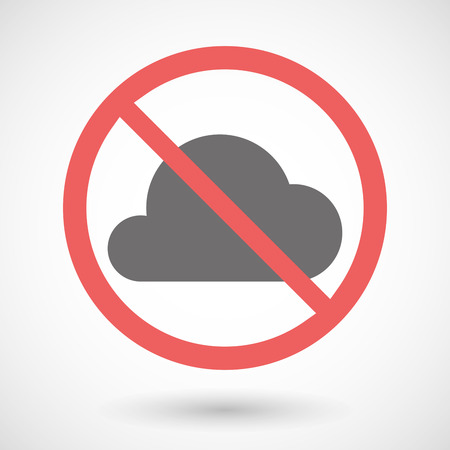 warning indicator: Illustration of a forbidden signal with a cloud