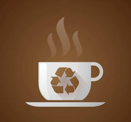 coffe tree: Illustration of a coffee cup with a recycle sign