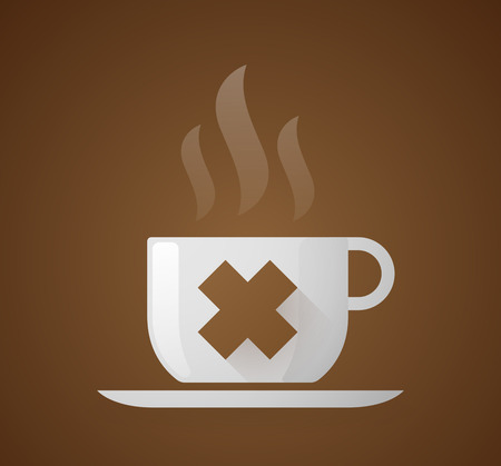 irritating: Illustration of a coffee cup with an irritating substance sign