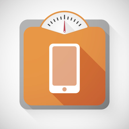 Illustration of a weight scale with a phone Vector