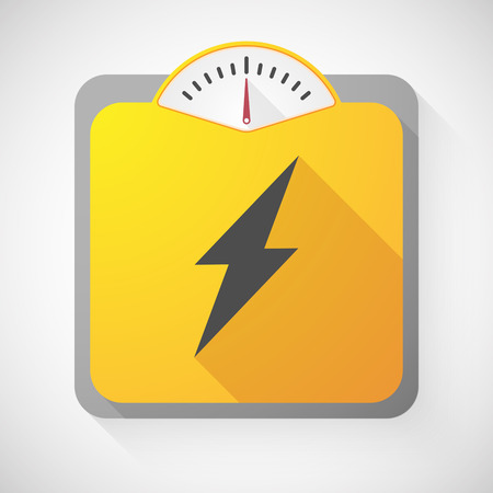 high scale: Illustration of a weight scale with a lightning Illustration