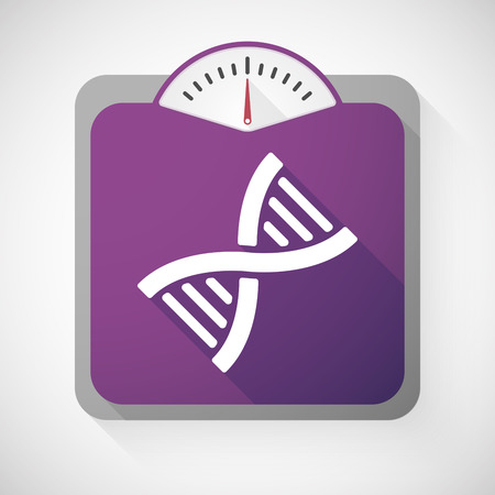 transgenic: Illustration of a weight scale with a DNA sign
