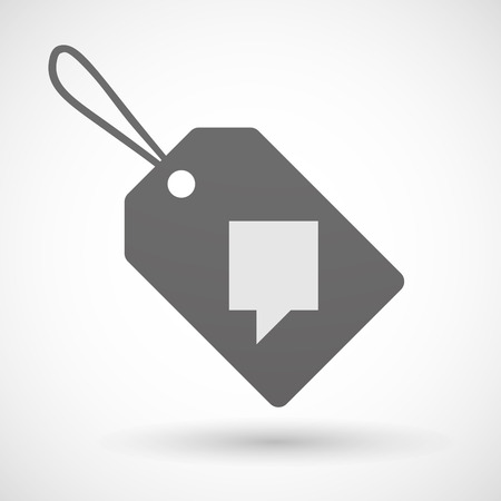 tooltip: Illustration of a shopping label icon with a tooltip