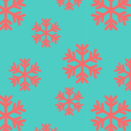 snow flake: Illustration of a colored snow flake seamless pattern Illustration