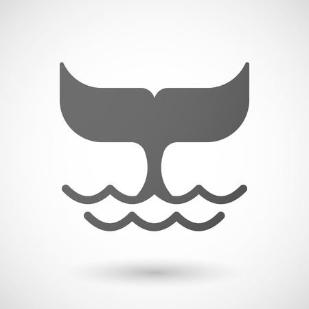 Illustration of an isolated  grey whale icon