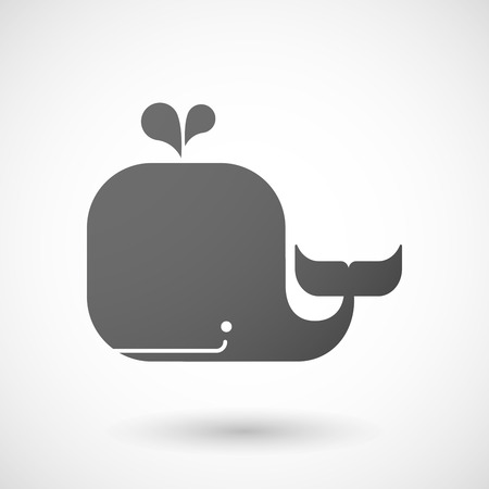 humpback: Illustration of an isolated  grey whale icon
