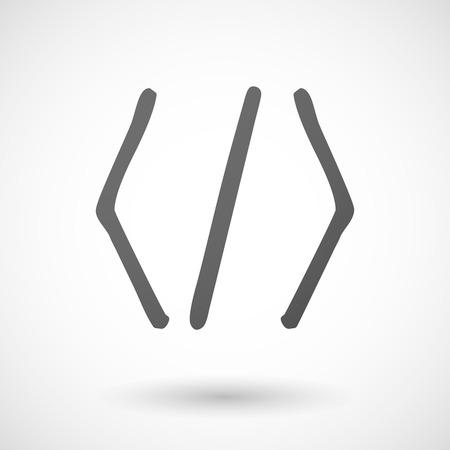 kódování: Ilustrace izolované šedé kódování znamení Ilustrace