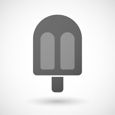 sorbet: Illustration of an isolated grey ice cream icon